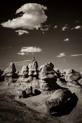 Goblin Valley (ValeTer_) Tags: sky black white rock monochrome photography cloud atmosphere landscape nikon d7500 goblin valley state park usa ut utah formation