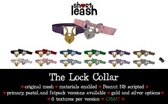 .:Short Leash:. The Lock Collar (Short Leash // original mesh & virtual kink) Tags: shortleash secondlife submissive bdsm babygirl collar pet babyboy