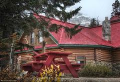 The Num-Ti-Jah Lodge, Banff National Park (PhotosToArtByMike) Tags: simpsonsnumtijahlodge numtijahlodge bowlake icefieldsparkway banff banffnationalpark bowriver westernalberta canadianrockies albertacanada mountain mountains