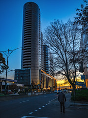 Sunset Towers (RP Major) Tags: box hill sunset tower building melbourne street man thechen
