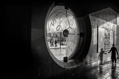 gateway to stokescroft (Daz Smith) Tags: dazsmith fujifilmxt3 xt3 fuji bath city streetphotography people candid portrait citylife thecity urban streets uk monochrome blancoynegro blackandwhite mono window bristol stokescroft boy