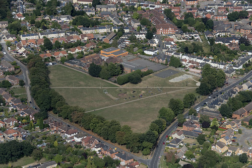 The Recreation Ground in Stowarket - aerial image