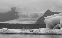 A Glacial Landscape (peterkelly) Tags: bw canon 6d europe iceland gadventures bestoficeland jökulsárlónglacierlagoon glacier glacial ice water berg foggy fog