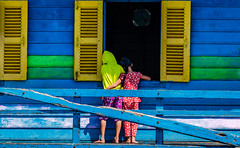Be colorful (bransch.photography) Tags: sunny yellow colours asia water kid landmark classroom purple color lake weather boy tonlesap kids paint blue colorful school beautiful travel multicolor siemreap room girl boat cambodia tourism green children class colour