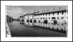 Gaggiano vecchia (claudiobertolesi) Tags: gaggiano 2013 biancoenero naviglio navigliogrande lombardia paesaggio acqua case claudiobertolesi