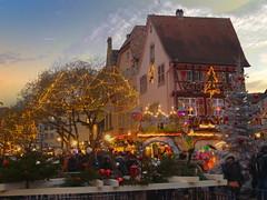 Colmar (Haut-Rhin, F) (pietro68bleu) Tags: alsace marchédenoël maisonsàcolombages carroussel illuminations guirlandeslumineuses