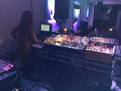Steevio and Suzybee's Set-Up (diskojez) Tags: synth synths music tech pickle factory london suzybee steevio