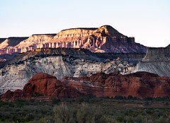 Powell Point from Kodachrome Basin State Park, Utah, United States Of America (weesam2010) Tags: kodachromestatepark utah unitedstatesofamerica america rocks sunset colour color red powell point basin