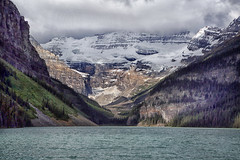 Lake Louise, Canada (crafty1tutu (Ann)) Tags: travel holiday 2018 canadaandalaska canada lakelouise banffnationalpark canadianrockies mountain mountains mountainrange mountainside lake water snow clouds trees forest crafty1tutu canon5dmkiii canon24105lserieslens anncameron naturethroughthelens landscape