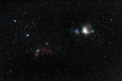 Nebulas in Orion (sergiy.vakulenko) Tags: astrophotography astrophoto deepsky dso orion m42 m43 m78 nebula space sky ngc1977 ic434 ngc2024 sh2277 sh2279 sh2281 eq5 canon 450d jupiter37a astronomy
