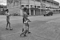 This way (Beegee49) Tags: mother daughter street filipina holding hands blackandwhite monochrome bw panasonic fz1000 happy planet luminar bacolod city philippines happyplanet asiafavorites