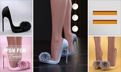 EQUAL - Pom Pom Pumps (EQUAL SL) Tags: secondlife shoes slink maitreya belleza heels