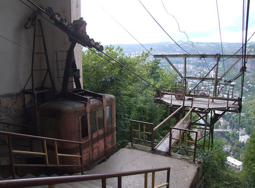 At the upper station of the cable car, 09.09.2013.