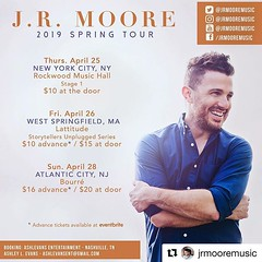 #Repost @jrmooremusic: Northeast people! I'm coming your way in April. More info on dates on my website, FB page, and Bandsintown. (AllenMackMyersMooreNation) Tags: allen mack myers moore ammm