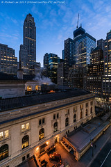 Library 4 (20190127-DSC01546-Edit) (Michael.Lee.Pics.NYC) Tags: newyork nypl newyorkpubliclibrary hotelview parkterracehotel 40thstreet fifthavenue aerial architecture cityscape 500fifthavenue morning bluehour dawn sky clouds sony a7rm2 magicshiftconverter voigtlanderheliar15mmf45 onevanderbilt