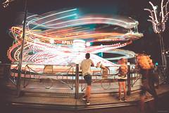 Apollo - Prater, Vienna (Sebastian Bayer) Tags: nacht lichtspuren technik attraktion dynamik prater metall blauestunde spas bewegung abend fahrgeschäft karussell langzeitbelichtung wien