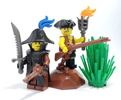 Pirate Restock Alert! (BrickWarriors - Ryan) Tags: lego legogun customlego customlegominifigure customlegoarmor customlegohelmet gun shield helmet armor army brick minifigure minifig custom