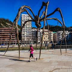 Spider in Action (michael.heiss) Tags: spain spanien baskenland basque bilbao spinne spider guggenheim jogging