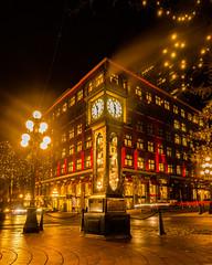 The Famous Clock (mikelan1986) Tags: vancouver britishcolumbia canada amazing longexposure nightscape night travel tourism adventure city