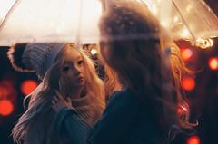 under umbrella II (AzureFantoccini) Tags: bjd abjd doll umbrella autumn outdoor street balljointeddoll supia supiadoll jiin granado ozin5 emon portrait bokeh romance