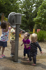 entertaining the other kids with her antics (louisa_catlover) Tags: portrait family child park playground outdoor playgroup friends tabby tabitha daughter toddler