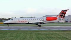 G-SAJB (AnDyMHoLdEn) Tags: loganair embraer egcc airport manchester manchesterairport 23l