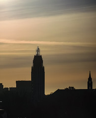 Downtown Tulsa in the Morning (d-russell4213) Tags: motozplay2 tulsa oklahoma downtown sunrise church spire