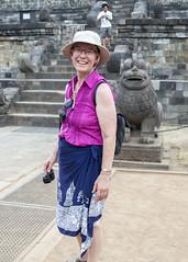 Borubudur (Hans van der Boom) Tags: vacation holiday asia indonesia indonesië java people marjon borubudur id