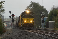 Dreary Erie (Eric_Freas) Tags: norfolk southern ns cleveland line alliance ohio 27n erie heritage unit 1068 position lights