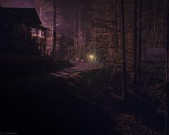 Dark Winter Night (grantdaws) Tags: dark night creepy spooky artistic low light evil purple dusk camp gothic