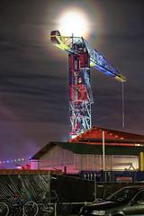 Crane Hotel Feralda, NDSM, Amsterdam (ahwou) Tags: cranehotelferalda ndsm amsterdam avondfoto nachtfoto maan moonlight crane kraan feralda hotel