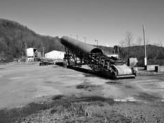 coal cannon (photography_isn't_terrorism) Tags: abandoned coal conveyor elevator wv bw