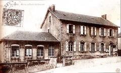 Mairie et école de Sanvignes - 1920