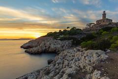 Lighthouse #1 (grgppmchl) Tags: lighthouse salamina salamis samyang12mm20 sea sky rocks longexposure sunset