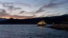 Ciel matinal du port d'Île-Rousse (AdminOfPlaygroup) Tags: ciel mer nuage aube bateau ferry corse france ilerousse