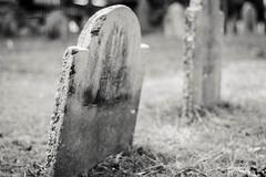 Salem, MA (michellezigler) Tags: graveyard headstone grave blackandwite bw outside outdoors creepy spooky horror november autumn fall travel salem witch trial massachusettes bokeh