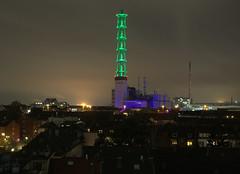 H K W II (dominik_urbex) Tags: nikon d800 ruhrgebiet ruhrpott kraftwerk hkw kohle stadtwerke duisburg nacht nachts beleuchtet grün skylinie heizkraftwerk kohlekraftwerk