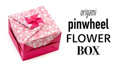 Pinwheel Flower Lid Tutorial - Modular Origami Box - Paper Kawaii (paperkawaii) Tags: origami instructions paperkawaii papercraft diy how video youtube tutorial