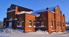 Lutheran church in Orenburg oblast (МирославСтаменов) Tags: russia orenburg countryside church religion brick winter