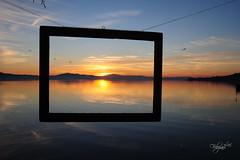 Last sunset in Trasimeno Lake (luc.feliziani) Tags: lake acqua trasimeno sunset soleil clouds sky water colors cornice island polvese umbria italy nature