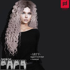 Arty (FABIA.HAIR) Tags: 3d fashionlook fashion virtual virtuallife mesh meshhair hair rigged beauty look piktures fabia nice meef head special sl second secondlife sweet event hairstyle style life lovely avatar spam shopping new release best love everyday art shop women locks girl