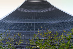A look up the Walkie-Talkie Building (Rambo2100) Tags: 20fenchurchstreet london walkietalkie building facade leekumkee england landsecurities skyscraper city glass skyline carbuncle rafaelviñoly rambo2100