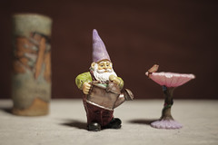Enjoying the garden (N.the.Kudzu) Tags: tabletop stilllife rustic vase resin gnome figurine canoneosm 7artisans35mmf12 2lilowls lightroom preset