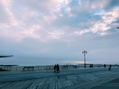 Coney Island #coneyisland #boardwalk #sky #sunset #beach (ariannatsafas) Tags: coneyisland boardwalk sky sunset beach