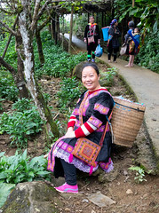 Lan's Story - 01 (cheryl strahl) Tags: vietnam northernvietnam guide hmong authentic informative village sewing guiding woman tribal colorful cultural dress traditional sapa hauthaovillage