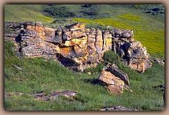 Big Muddy Badlands Bluffs (robinb44) Tags: saskatchewan bigmuddybadlands bluffs cliffs buttes mesa oldwest canada canadianprairie prairie plains lichens colourful orange