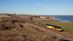 Bitter Orange (Richie B.) Tags: kinley hill durham gbrf great britain railfreight brush traction procor mirrlees class 60 60085 6h70