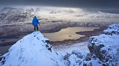 winter hiking in Assynt (Ela Dzimitko) Tags: scotland szkocja assynt ullapool stacpollaidh stacpolly hiking hillwalking winter snow inverpolly coigach moody dramatic summit summitview eladzimitko stunningoutdoors uk unitedkingdom lake loch blue canon5dmk4 canon2470f28