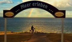 The friendly cyclist (Ostseeleuchte) Tags: ostsee balticsea brodtenersteilufer steepcoast coastline hermannshöhe fahrradundwanderweg norddeutschland schleswigholstein ostholstein