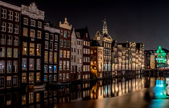 Amsterdam at night (tomaszbaranowski007) Tags: amsterdam light night reflections holland nederland tamron2470 nikon nikond5500 d5500 longexposure